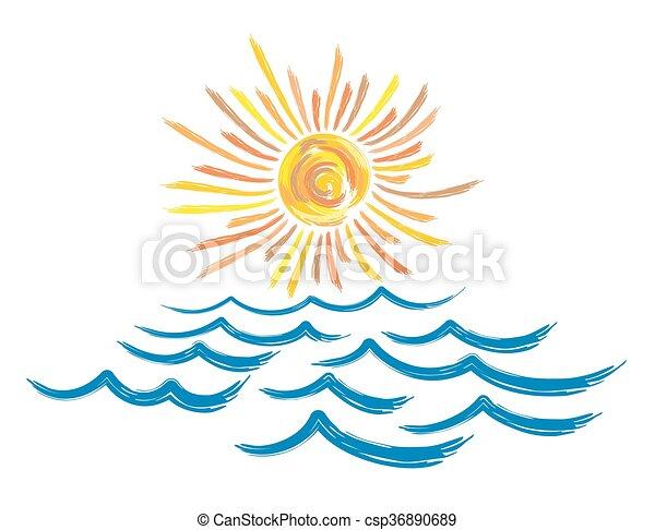 Sun mare paesaggio luminoso sun paesaggio mare for Mare clipart