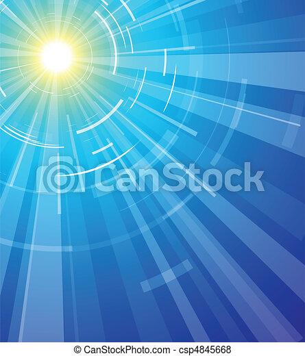 Sun on a blue sky - csp4845668