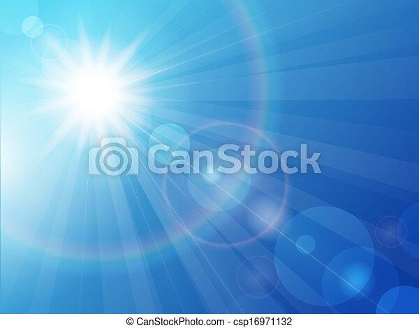 Sun on a blue sky - csp16971132