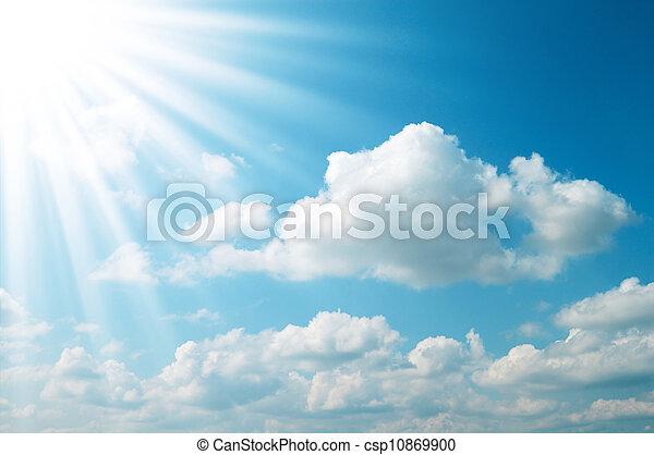 sun on blue sky - csp10869900