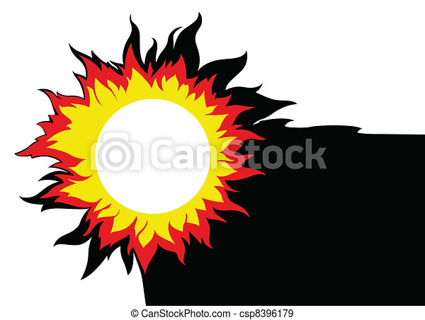 sun on white background, vector illustration - csp8396179