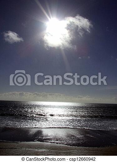 Sun over Swansea - csp12660942