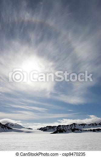 Sun over the glaciers - csp9470235