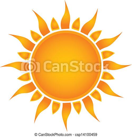 Sun over white - vector illustration - csp14100459