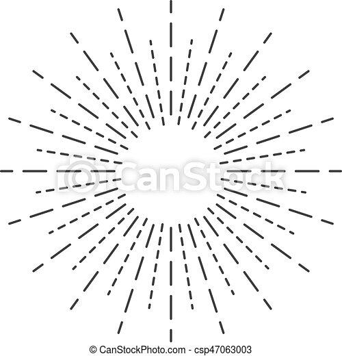 sun rays hand drawn linear drawing vector illustration vector rh canstockphoto com sun rays clipart black and white sun rays clipart black and white