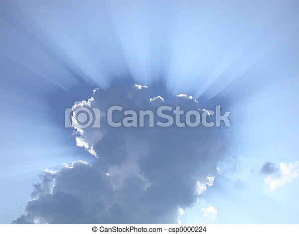 Sun Rays through Clo - csp0000224
