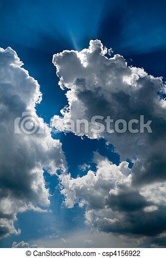 Sun rays through the clouds - csp4156922