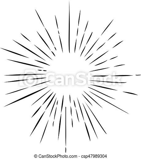 Vector Retro Sun Rays