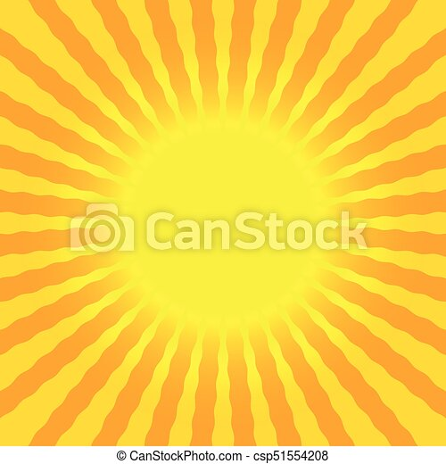 Sun rays wavy bright yellow and orange background placeholder ...