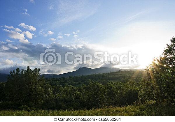 Sun rise in mountain - csp5052264