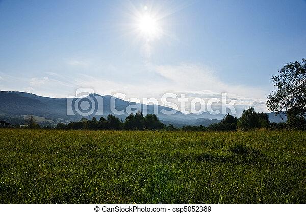 Sun rise in mountain - csp5052389