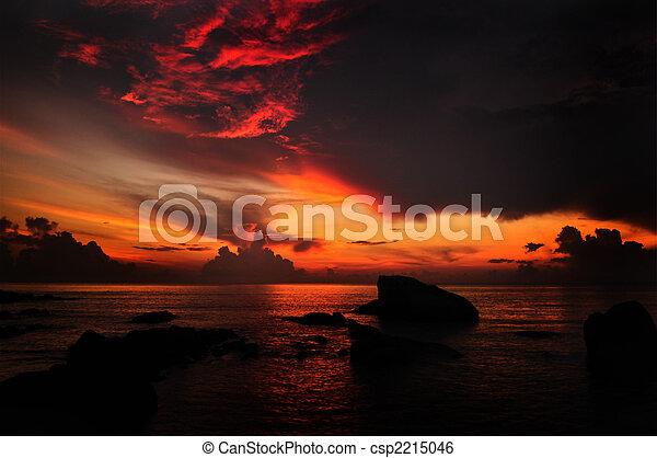Sun rising. - csp2215046