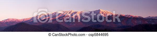 Sun setting on Smoky Mountains - csp5844695