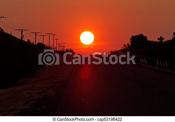 Sun setting - csp53198422