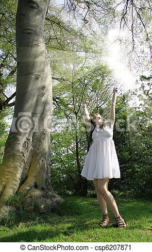 sun shine girl - csp6207871