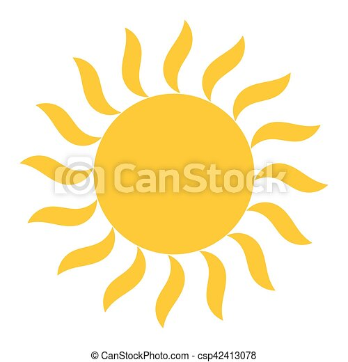 Sun shining vector icon - csp42413078