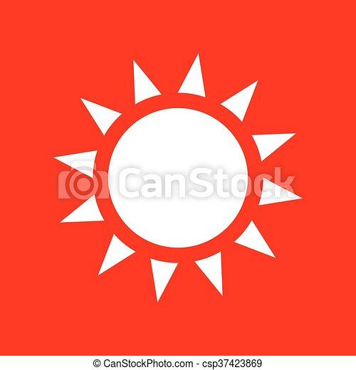 Sun sign illustration - csp37423869