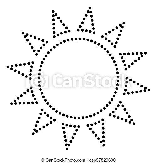 Sun sign illustration - csp37829600