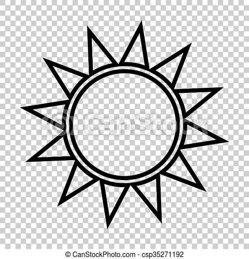Sun sign. Line icon - csp35271192