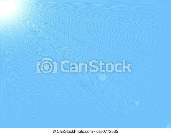sun & sky background - csp0772585