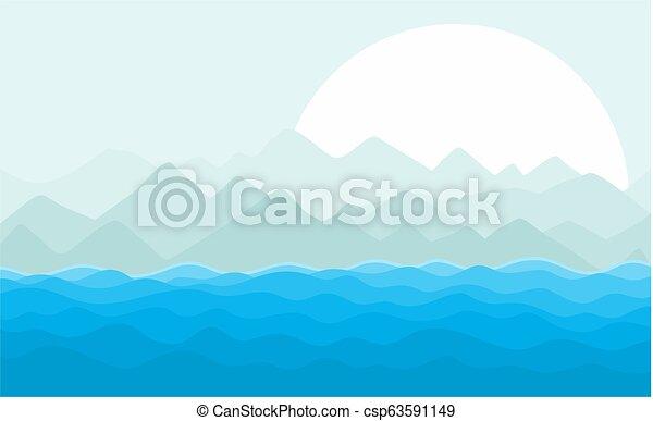sun., tenger, táj - csp63591149