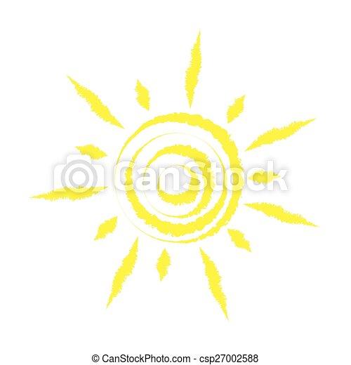 Sun, vector - csp27002588