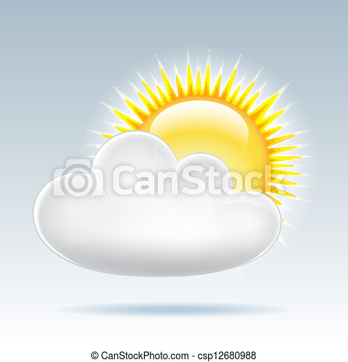 Sun with cloud floats in the sky - csp12680988
