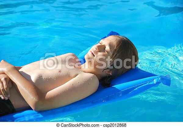 Young teen sunbathing squad stupid