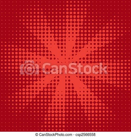 sunbeam halftone red - csp2566558