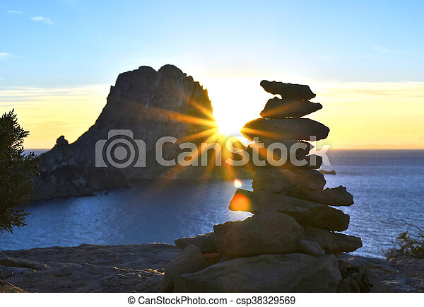 sunbeam., tramonto, es vedra - csp38329569