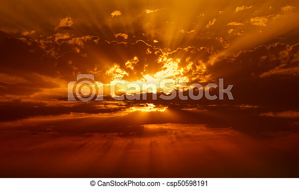 sunbeams in the clouds - csp50598191
