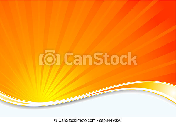sunburst, fond - csp3449826