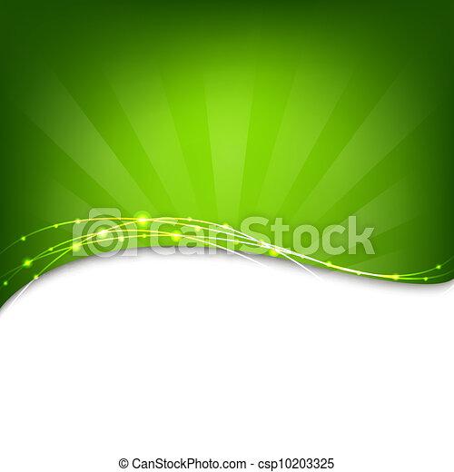 sunburst, fondo verde - csp10203325