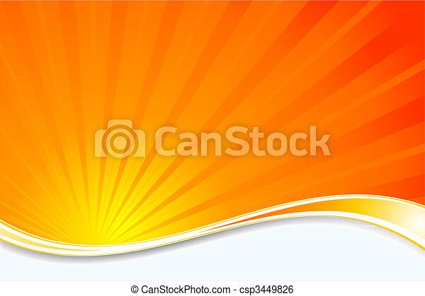 sunburst, grafické pozadí - csp3449826