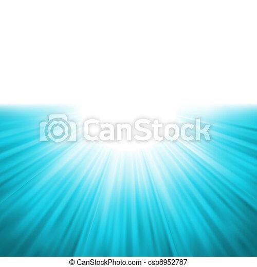 Sunburst rays of sunlight tenplate. EPS 8 - csp8952787