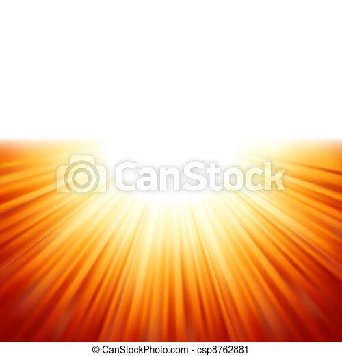 Sunburst rays of sunlight tenplate. EPS 8 - csp8762881