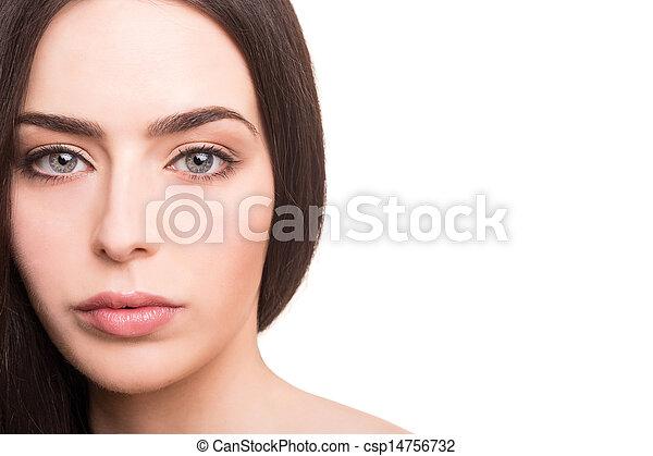 sund kvinde, unge, smukt ansigt - csp14756732