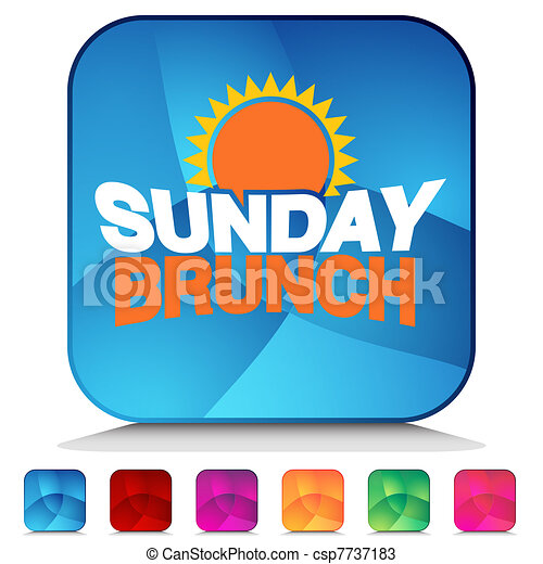 an image of a sunday brunch shiny button set vectors search clip rh canstockphoto com brunch clipart free brunch clipart free