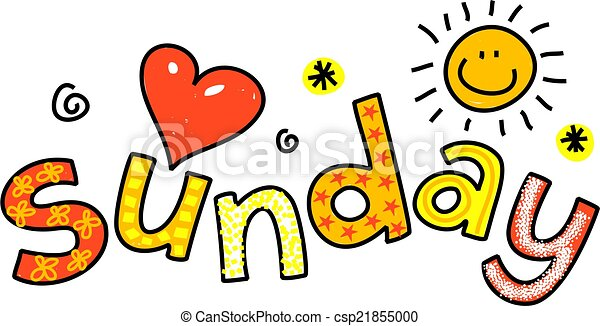sunday cartoon text hand drawn and colored whimsical stock rh canstockphoto com sundae clipart images sundae clipart images
