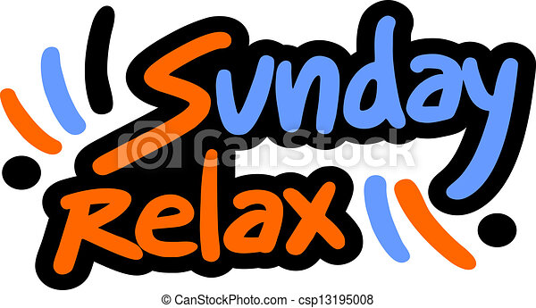 sunday relax creative design of sunday relax vector clipart rh canstockphoto com sundae clipart images sunday clip art images
