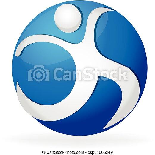 sunde, logo, figur, duelighed - csp51065249