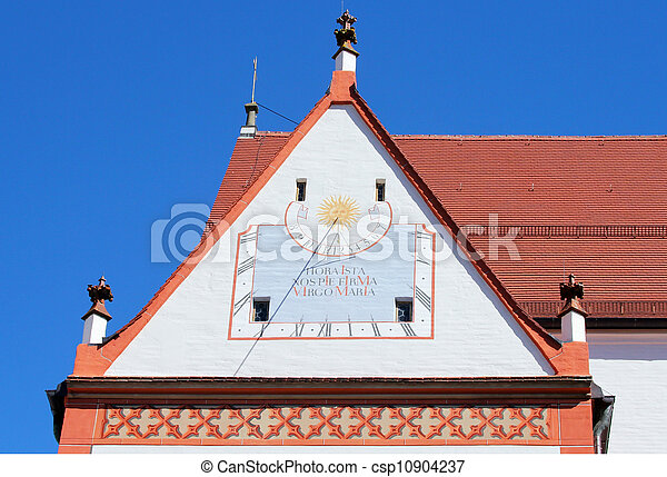 Sundial clock on the Parish Church - csp10904237