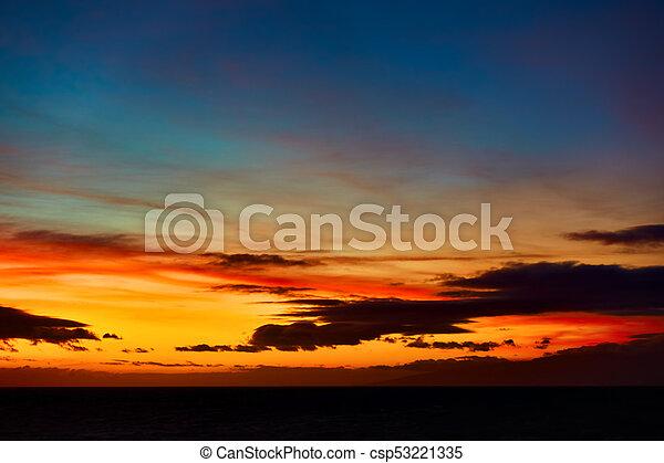 Sundown over Atlantic Ocean - csp53221335