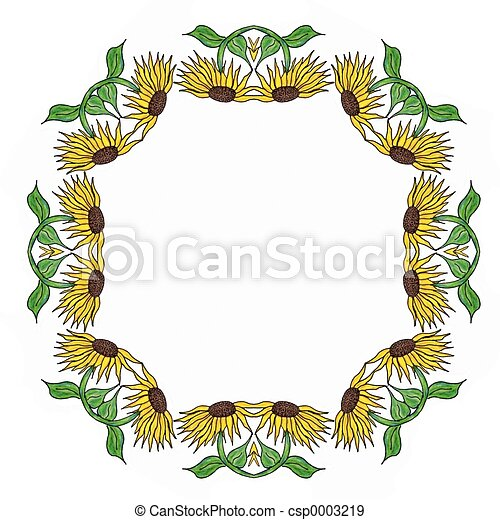 Sunflower frame - csp0003219