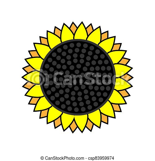 sunflower icon on a white isolated background. Vector image - csp83959974