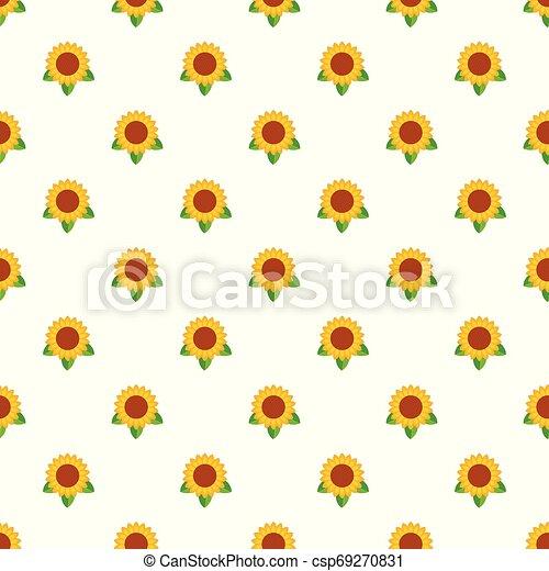 Sunflower leaf pattern seamless vector - csp69270831