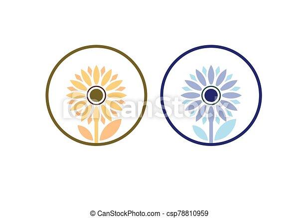 Sunflower logo Template, Nature icon design vector illustration - csp78810959