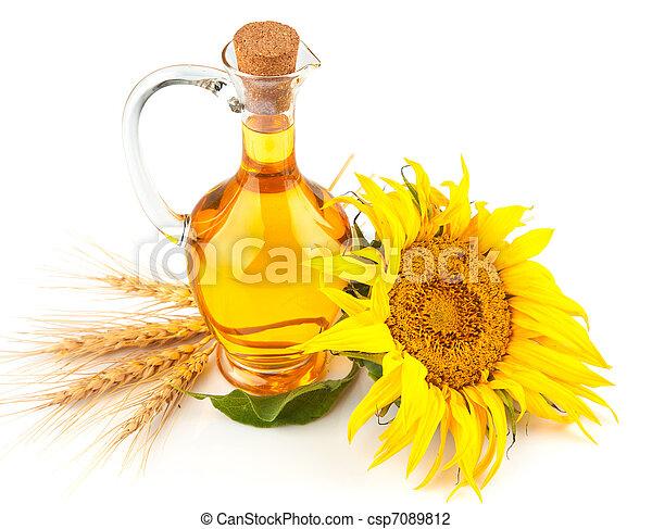 sunflower oil with flower - csp7089812