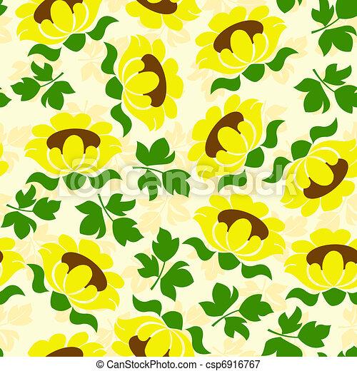 sunflower seamless pattern - csp6916767