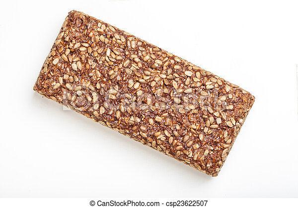 Sunflower seed covered wholemeal bread - csp23622507